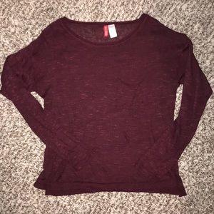Maroon light sweater